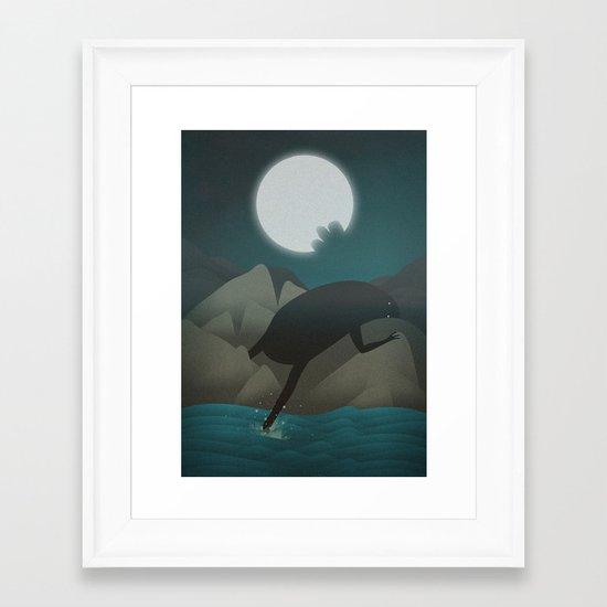 3 Bites of Moon (What Makes Me High) Framed Art Print