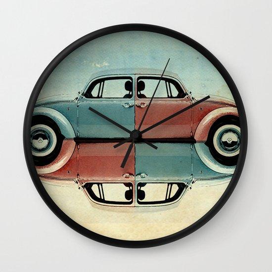checkered bug - VW beetle Wall Clock