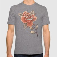 Rose on a Stem Mens Fitted Tee Tri-Grey SMALL