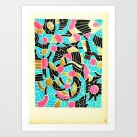- summer jump - Art Print