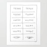 Texas Armadillo Art Print