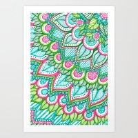 Sharpie Doodle 8 Art Print