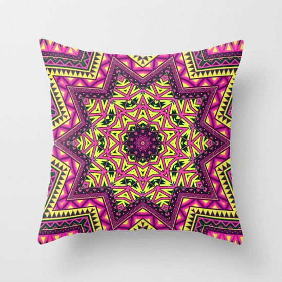 Indian Drugs Pattern Throw Pillow