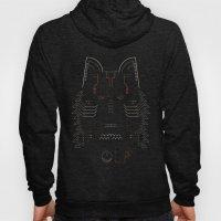 Wolf line illustration Hoody