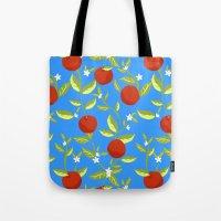 Orange Grove Pattern Tote Bag