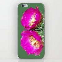 Magenta Twins iPhone & iPod Skin