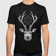 Stag Mens Fitted Tee Tri-Black SMALL