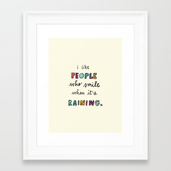 when it's raining Framed Art Print