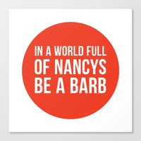 Be A Barb - Red Circle Canvas Print