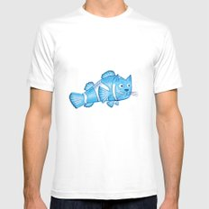 Catfish Mens Fitted Tee White SMALL