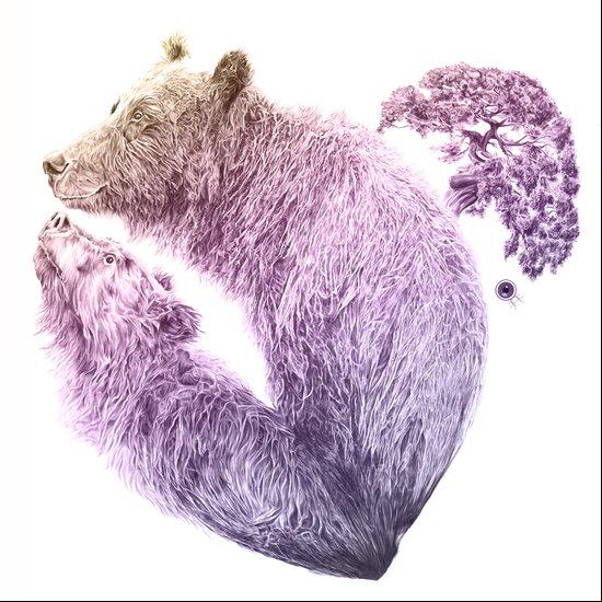 Bear your Heart v2 Art Print