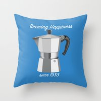 Brewing Happiness Throw Pillow