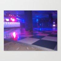 Dance floor chessboard Canvas Print