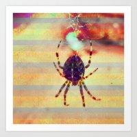 Radioactive spider Art Print