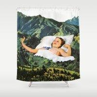 Rising Mountain Shower Curtain