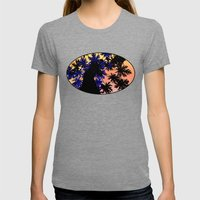 Palm Trip  Womens Fitted Tee Tri-Grey SMALL