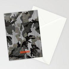 Modern Woodgrain Camouflage / Winter Birch Woodland Print Stationery Cards