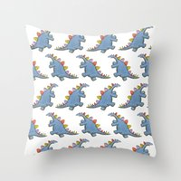 Stomp-a-saurus! Throw Pillow