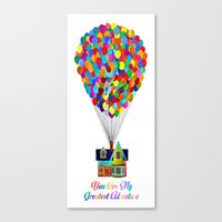 Up! You Are My Greatest … Canvas Print