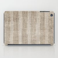 Striped burlap (Hessian series 3 of 3) iPad Case