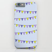 iPhone & iPod Case featuring Flag Bunting (purple) by near modern disaster