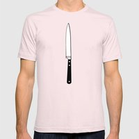 THE KNIFE Mens Fitted Tee Light Pink SMALL