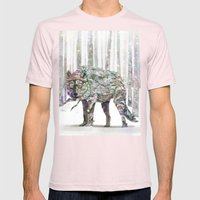 Winter Wonder Dog Mens Fitted Tee Light Pink SMALL