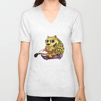 Skating Cheetah Unisex V-Neck