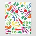 Full Spectrum Salad Canvas Print