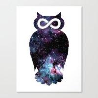 Super Cosmic Owlfinity Canvas Print