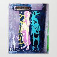 Meerkat Graffiti Canvas Print