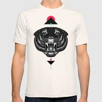Roar My *--Tiger--* Mens Fitted Tee Natural SMALL