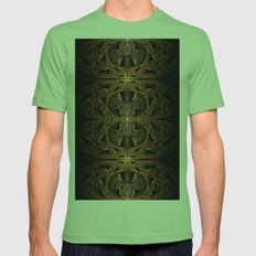 Steampunk Engine Abstract Fractal Art Mens Fitted Tee Grass SMALL
