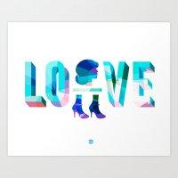 Head Over Heels In Love Art Print