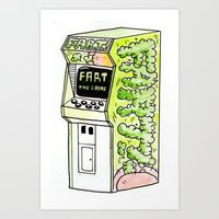 FART, THE GAME Art Print