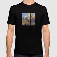 Along The Fence Mens Fitted Tee Black SMALL