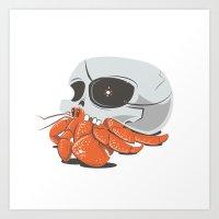 Skull House - One-Eyed W… Art Print