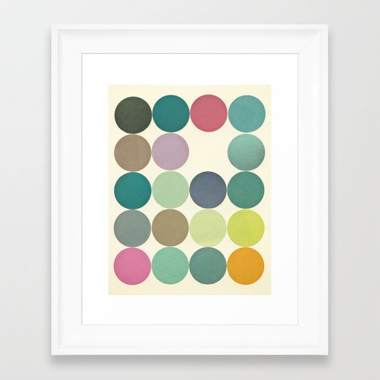 Circles I Framed Art Print