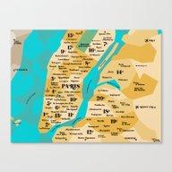 Paris Sur New York Canvas Print