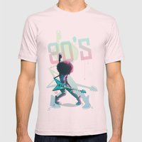 Rock 80's Mens Fitted Tee Light Pink SMALL