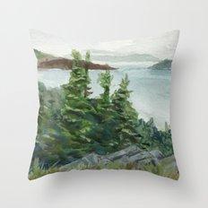 Lobster Cove Head Lighthouse Throw Pillow