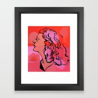 Because of Ms. Riley Framed Art Print