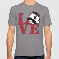 Love Natty Boh Mens Fitted Tee Tri-Grey SMALL