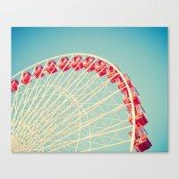 Descending Wheel Canvas Print