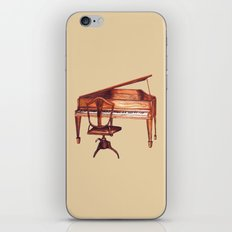 Antique Piano and chair bench art by Kristie Hubler iPhone & iPod Skin