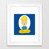 TRUMP-HEAD Framed Art Print