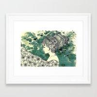 Hive Of Hair Framed Art Print