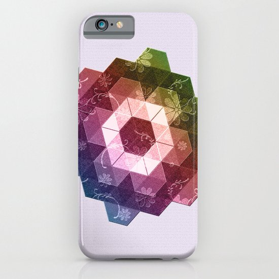 Patchwork Tiles IV (Rainbow flowers) iPhone & iPod Case