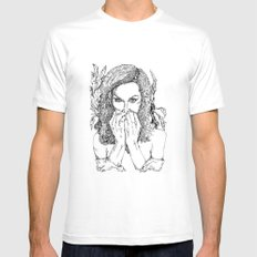 Undamaged Mens Fitted Tee White SMALL
