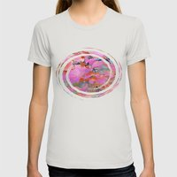 Autumn Rainbow Colors Womens Fitted Tee Silver SMALL